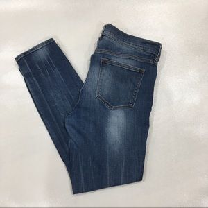 J Crew Factory Distressed Stadium Wash Skinny Jean